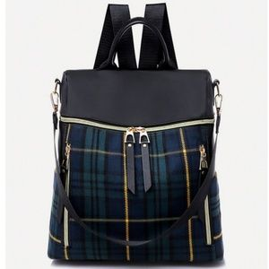 Plaid Backpack Bag